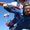 Tandem skydiving in free fall